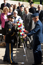 Wreath laying